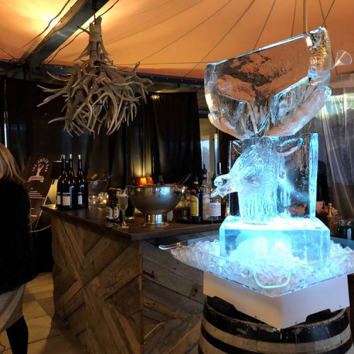 Ice Sculpture - Wanaka event catering - Apree ski party - Raspberry Creek Food Co