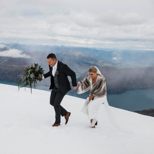Wanaka Winter Wedding photos - Snow