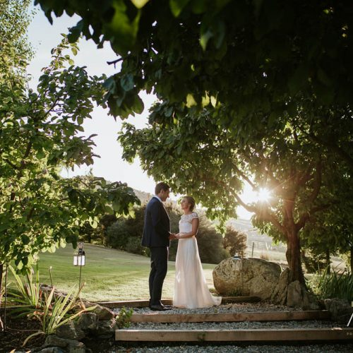 Golden hour photo - Wanaka wedding photography