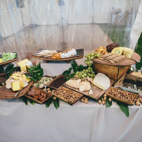 Raspberry Creek Catering cheese table