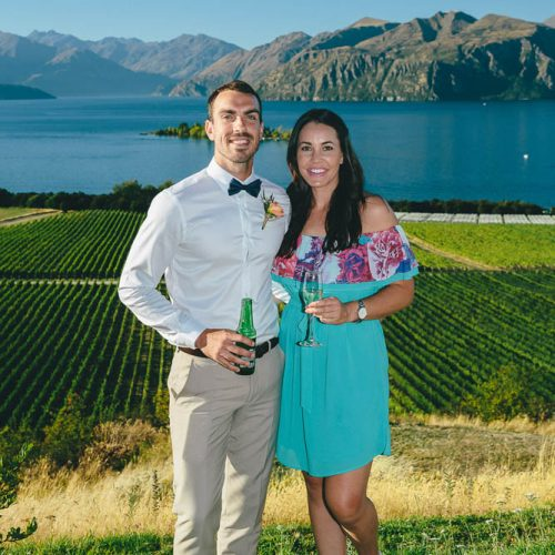 Wedding Guests - Wanaka Vineyard Wedding venue - Rippon Vineyard