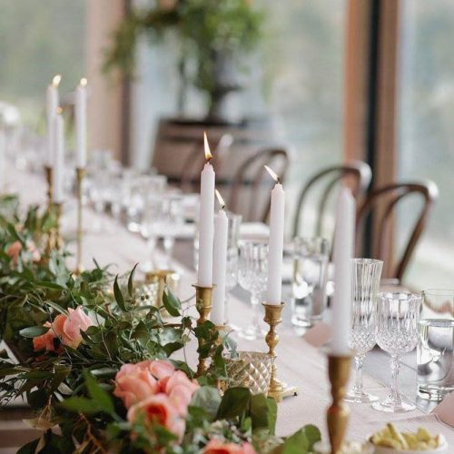 Floral table centrepiece - Wanaka Wedding Inspiration
