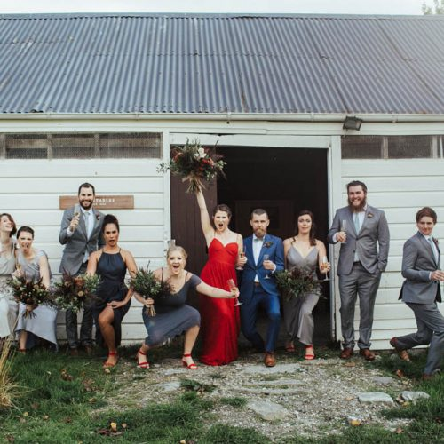 Bridal Party Wanaka Wedding - Glendhu Station