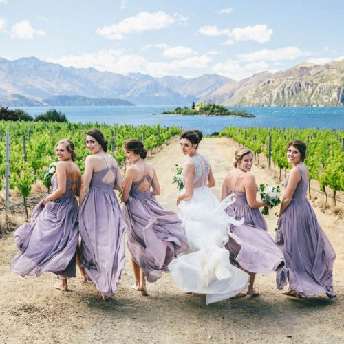 Bridal party at Lake Wanaka, NZ