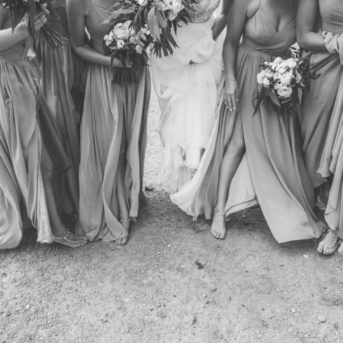 Bridesmaids and bride - Wanaka wedding