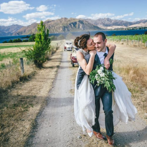 Bride & Groom at Lake Wanaka