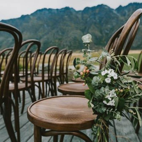 Bentwood chairs - Wanaka wedding stylist