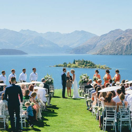 Ceremony site overlooking Lake Wanaka