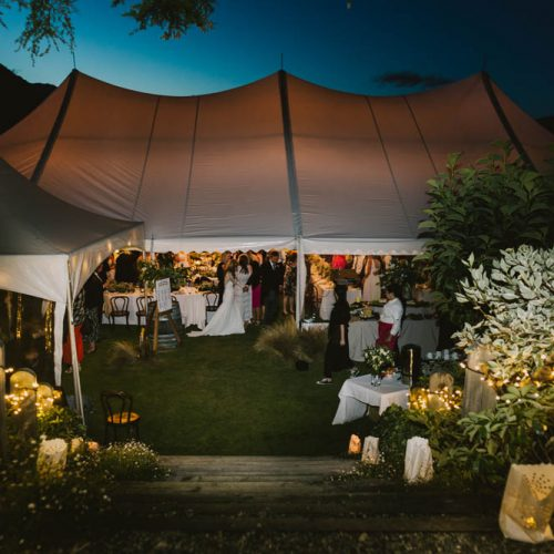 Marquee with bar tent - Wanaka Wedding caterers