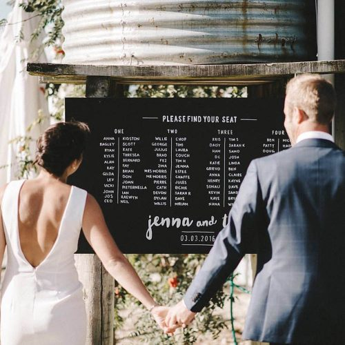 Seating plan by Pop Creative, Wanaka
