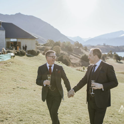 Rippon Hall Wanaka - Groom & Groom - Wanaka wedding