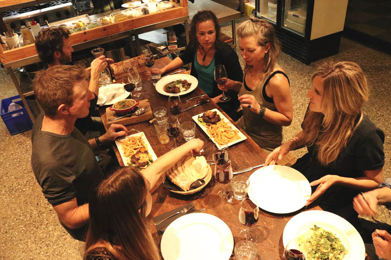 Dinner guests - The Chef's Table - Raspberry Creek Catering