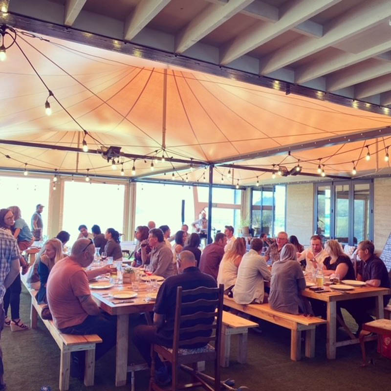 Summer winery guests - The Chef's Table - Raspberry Creek Catering