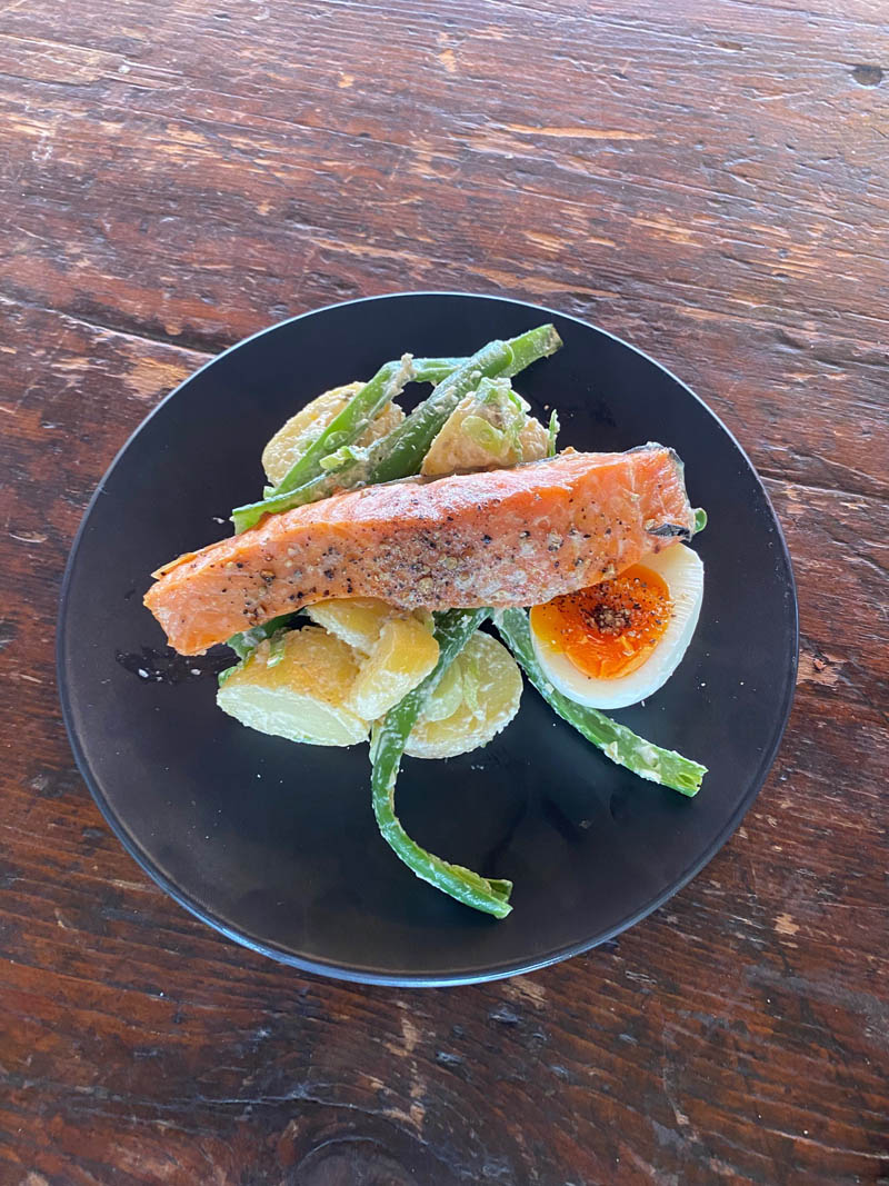 Salmon meal - The Chef's Table - Raspberry Creek Catering