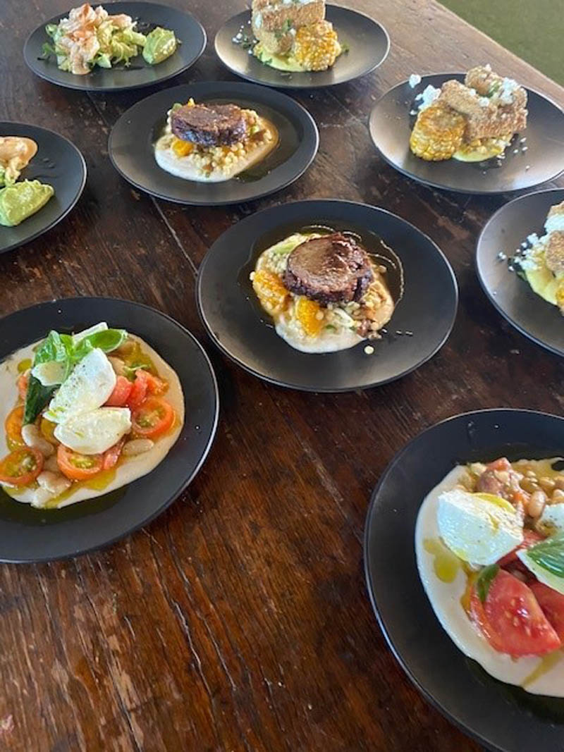 Plates of food - Chef's Table - Raspberry Creek Catering